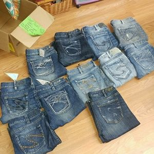 Silver jeans co|11 pairs bootcut/ankle/capri lot